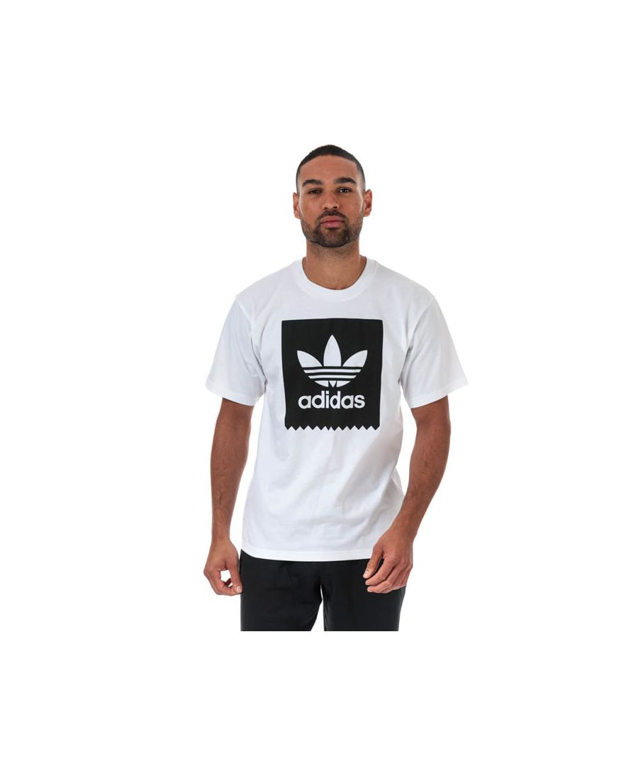 Image for Men's adidas Originals Solid BB T-Shirt in White Black