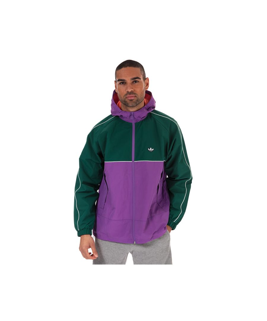Image for Men's adidas Originals Samstag Shell Jacket in Purple green