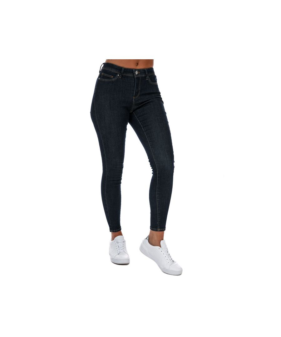 Image for Women's Only Royal Life High Waist Skinny Jeans in Dark Blue