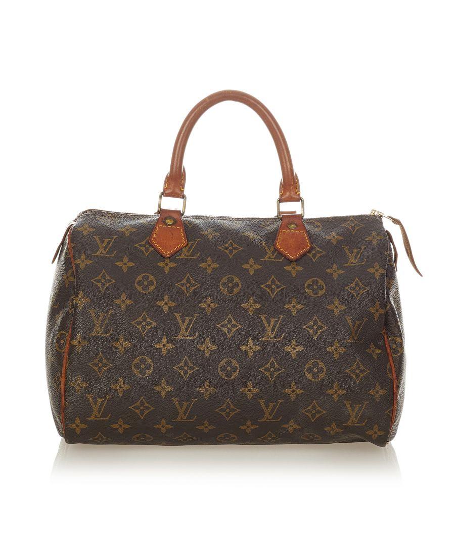 Image for Vintage Louis Vuitton Monogram Speedy 30 Brown