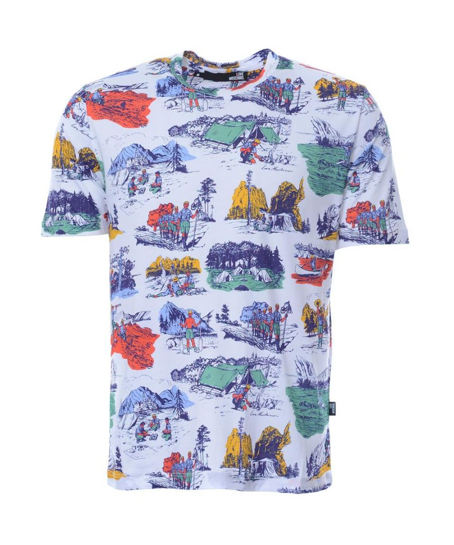 Image for Love Moschino Mens T-Shirt in Multicoloured
