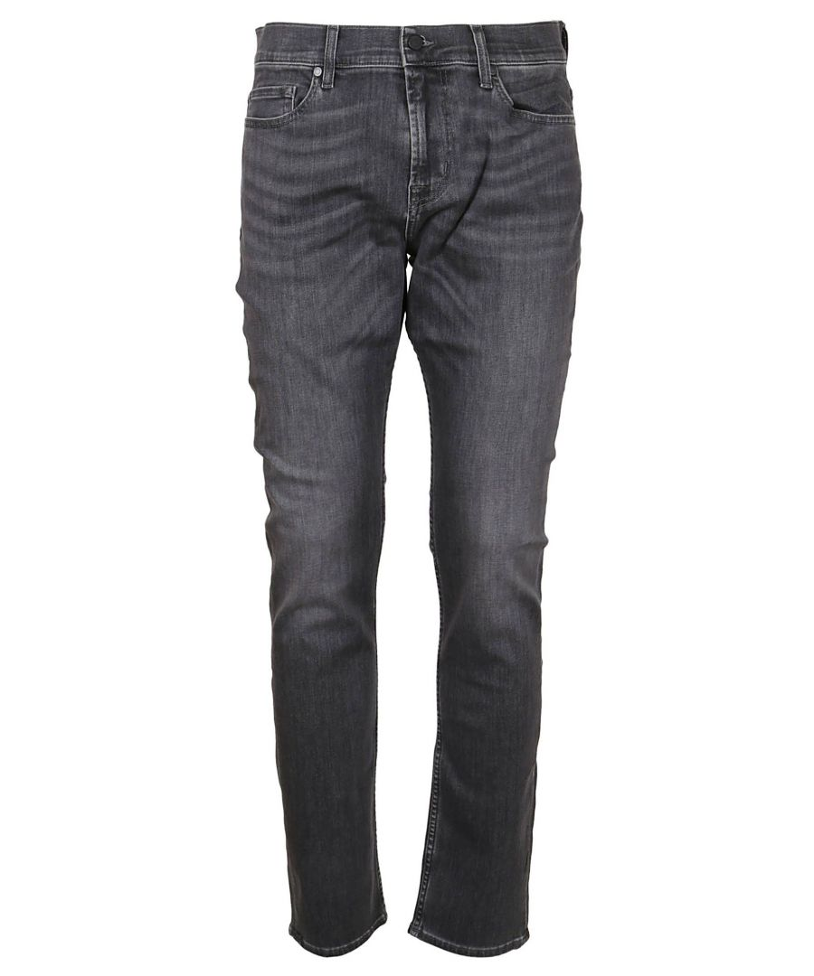 Image for 7 FOR ALL MANKIND MEN'S JSD4R730PE GREY COTTON JEANS