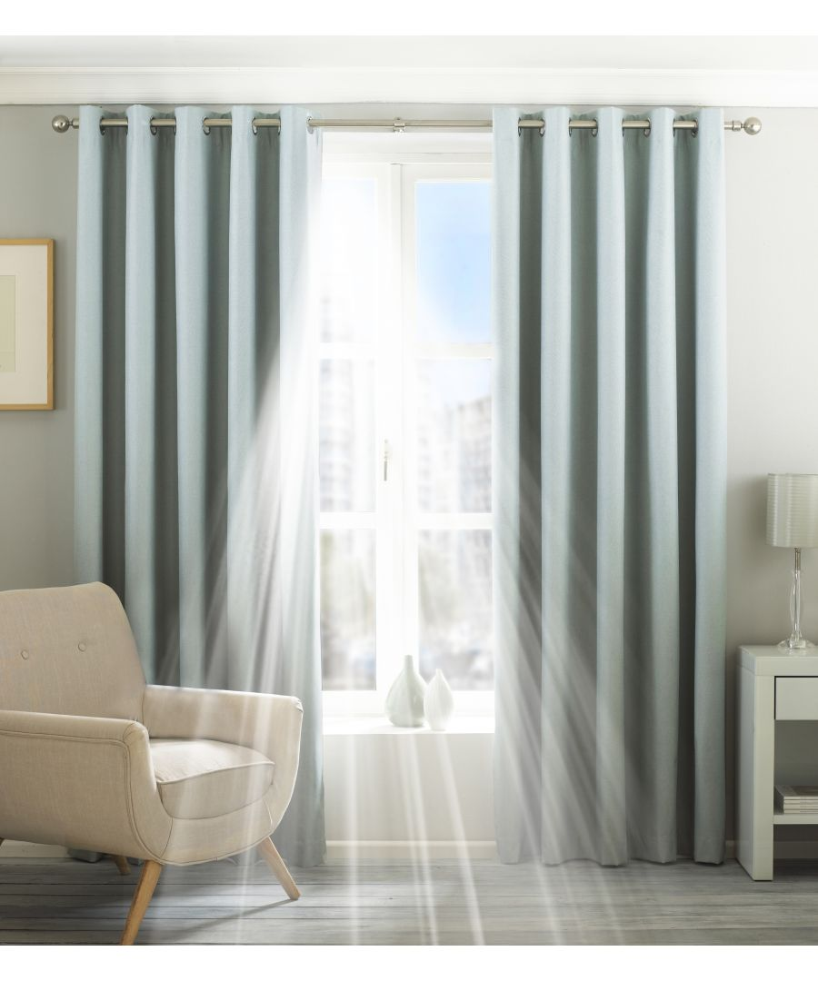 Image for Eclipse Blackout Eyelet Curtains in Duck Egg Blue