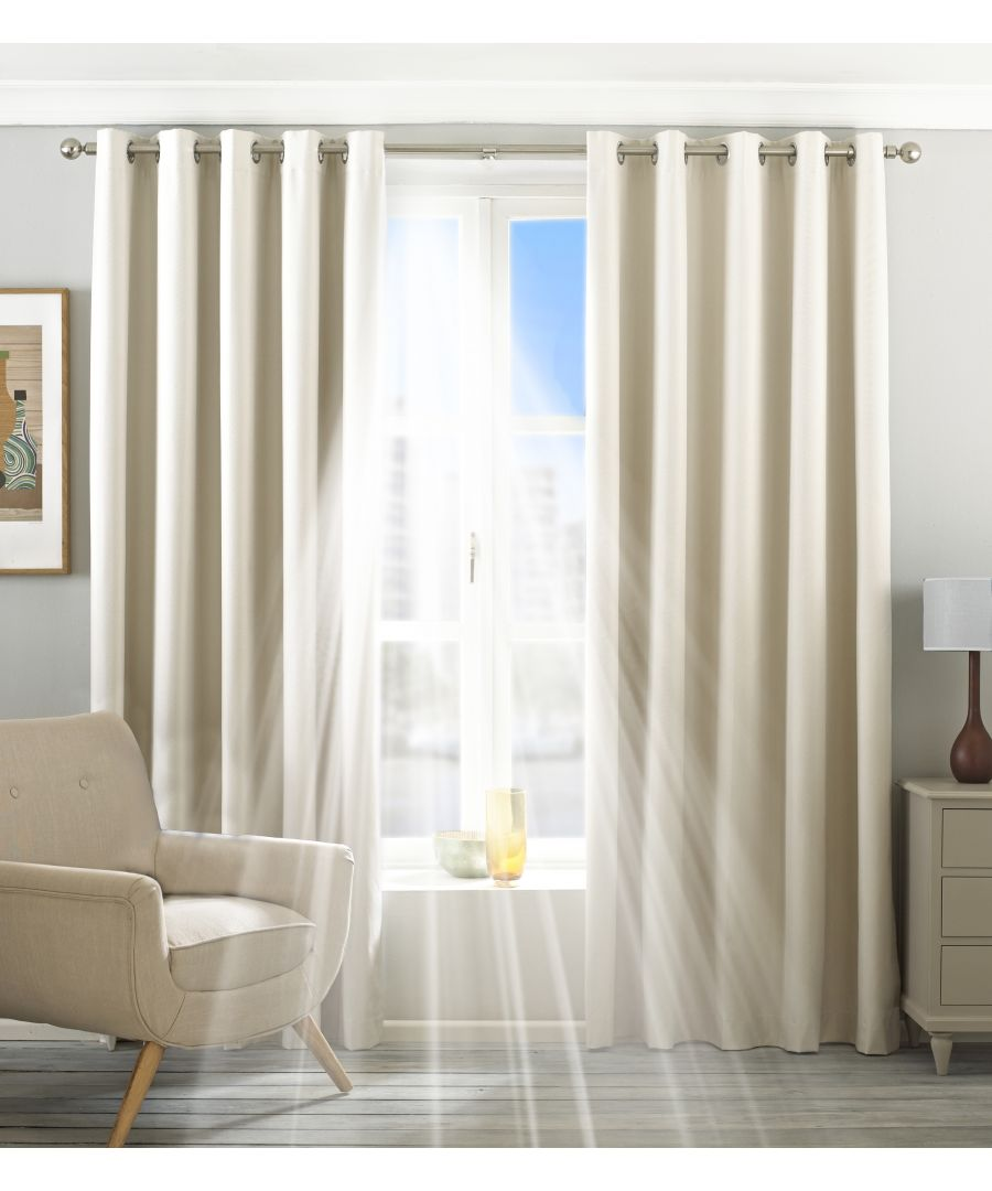 Image for Eclipse Blackout Eyelet Curtains in Ivory