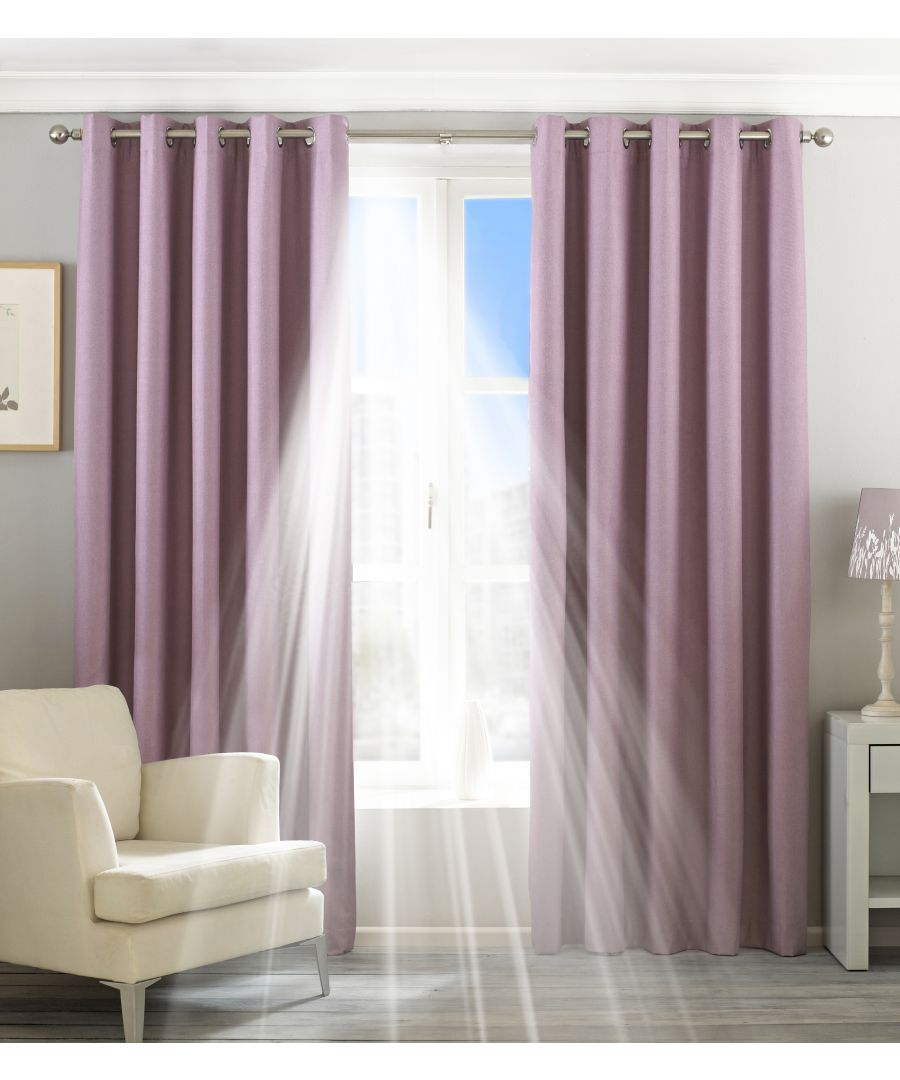 Image for Eclipse Blackout Eyelet Curtains in Mauve