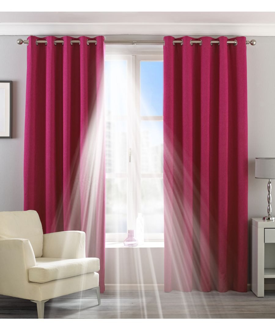 Image for Eclipse Blackout Eyelet Curtains in Pink