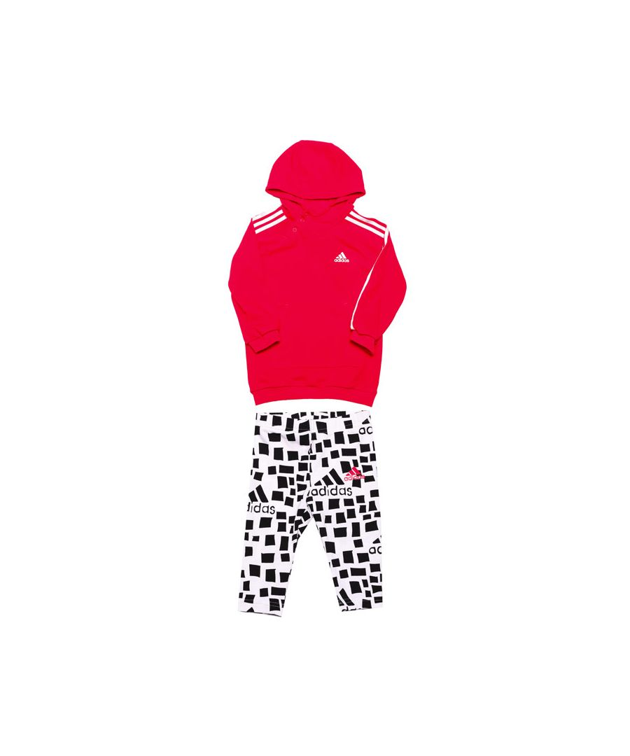 Image for Girl's adidas Baby Hooded Dress Set in Pink