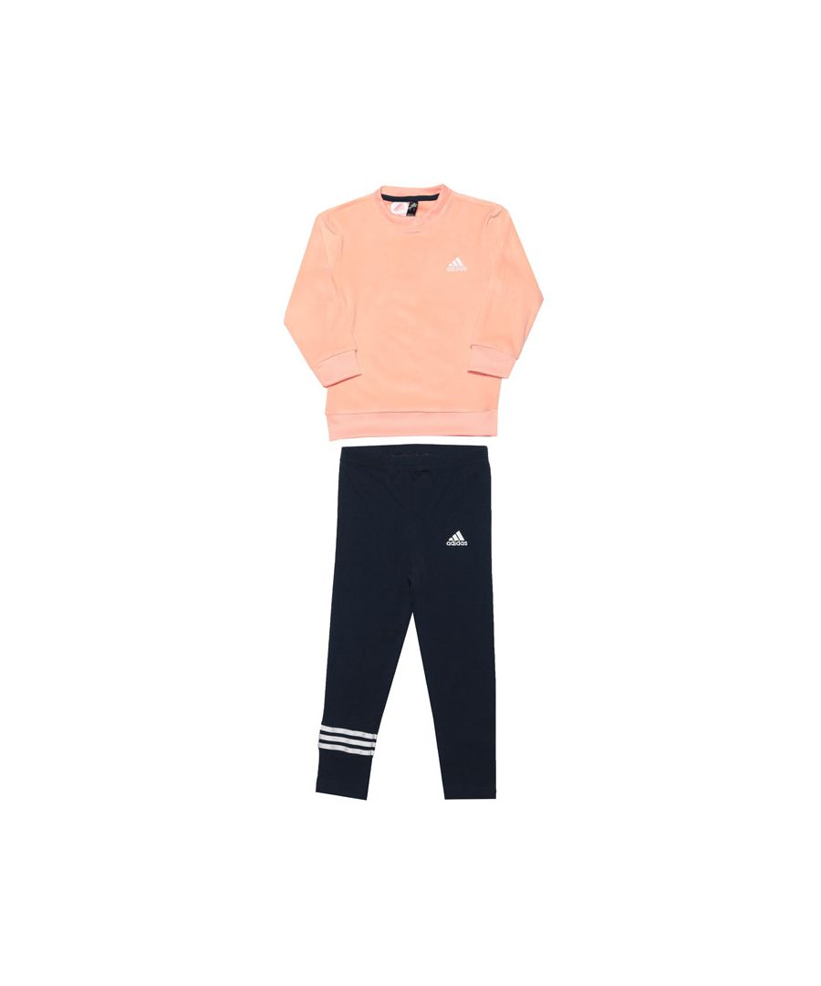 Image for Girl's adidas Infant Velour Tracksuit in Pink