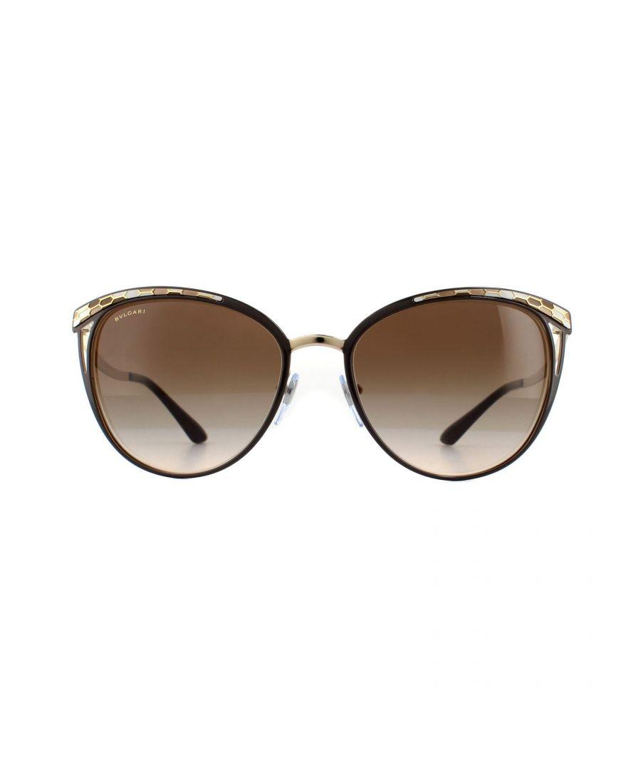 Image for Bvlgari Sunglasses 6083 203013 Brown & Pale Gold Brown Gradient
