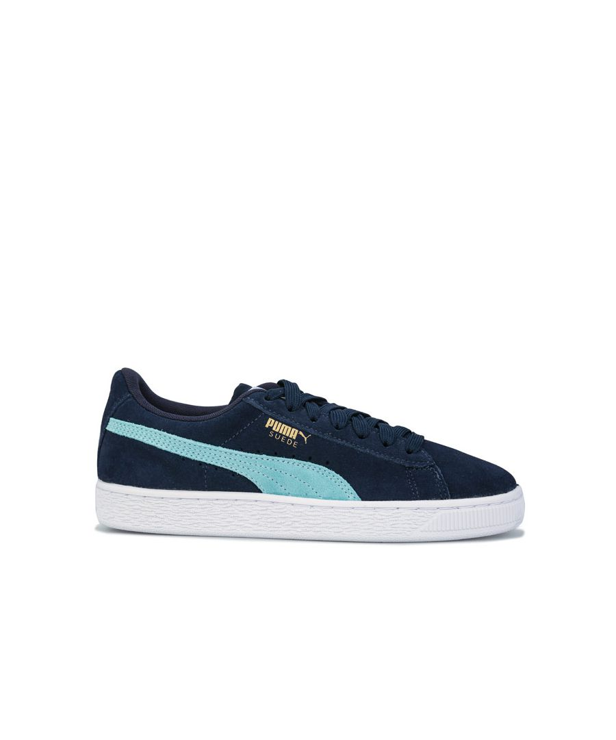 Image for Boy's Puma Junior Suede Classic Trainers in Navy