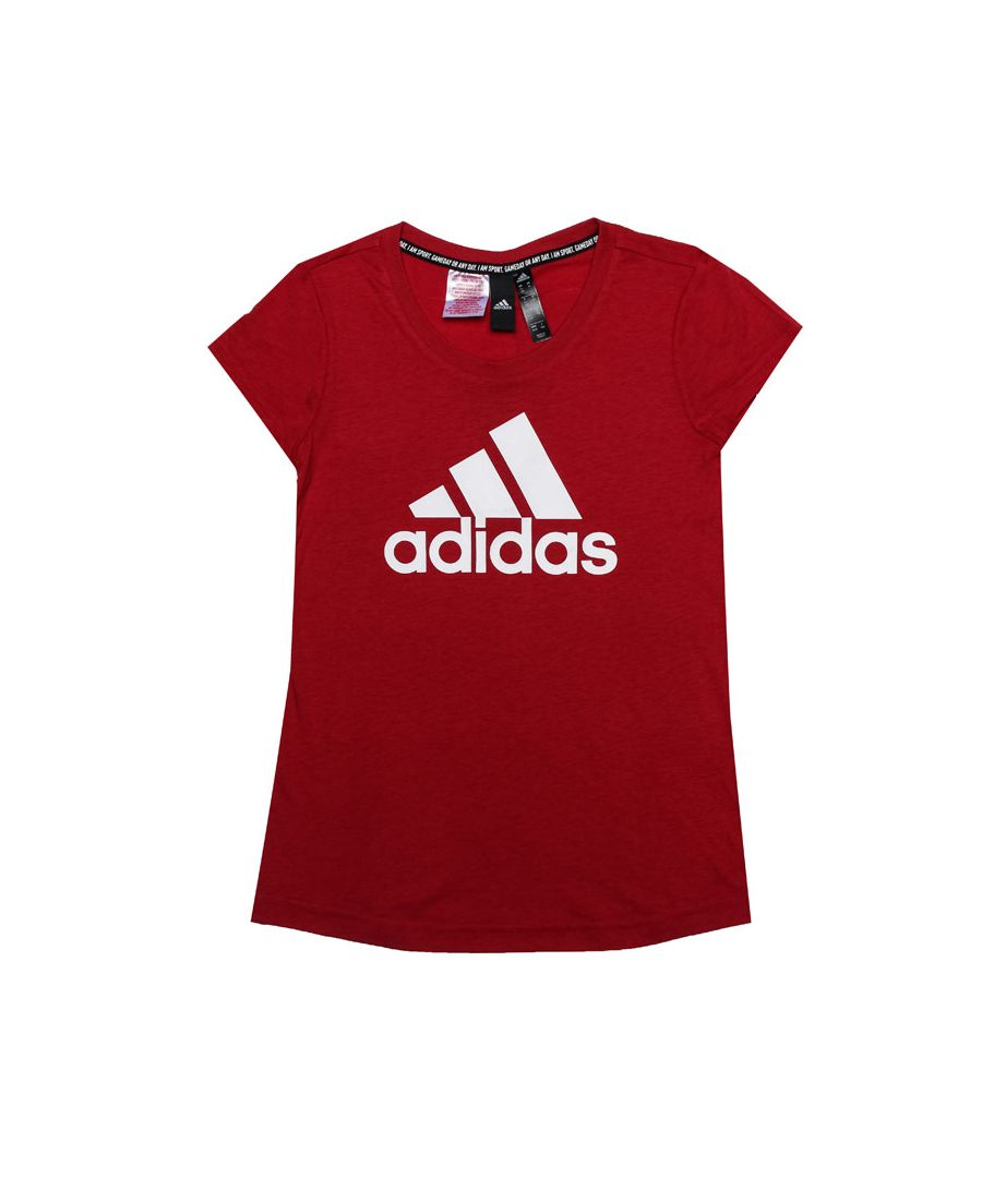 Image for Girl's adidas Junior Must Haves Badge Of Sport T-Shirt in Red