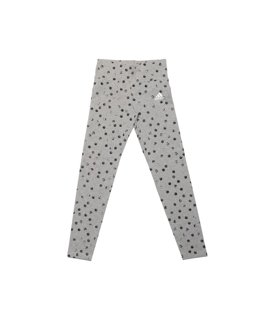 Image for Girl's adidas Infant Must Haves Graphic Leggings in Grey