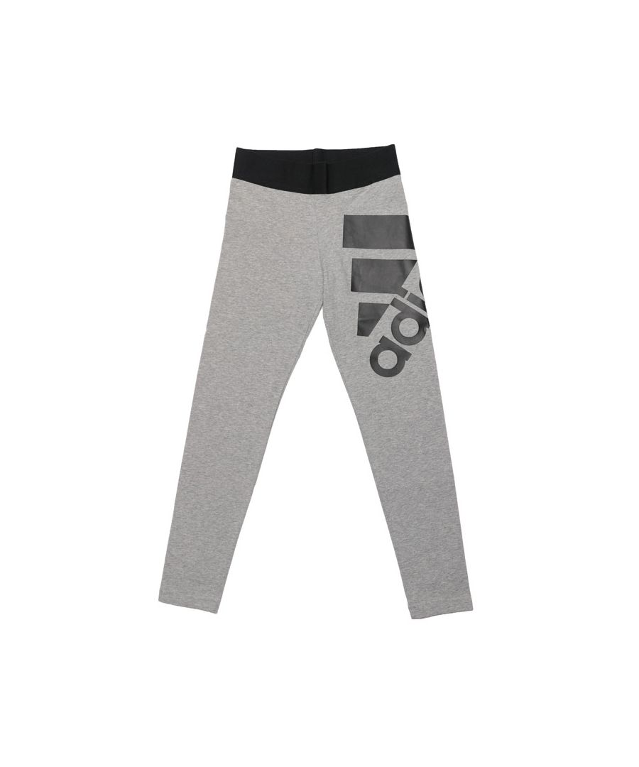 Image for Girl's adidas Junior Must Have Leggings in Grey