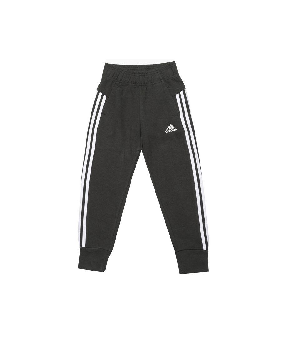 Image for Girl's adidas Junior 3-Stripes Leggings in olive