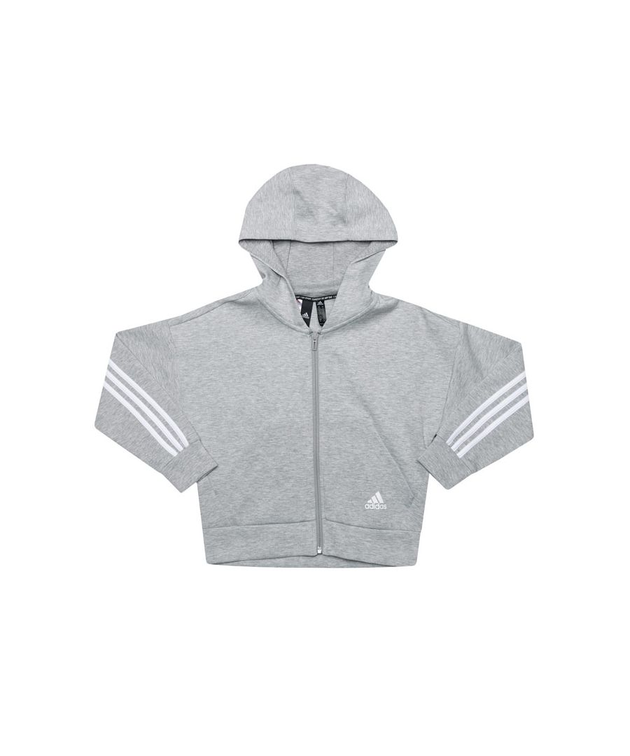 Image for Girls' adidas Infant Must Haves Zip Hoodie in Grey