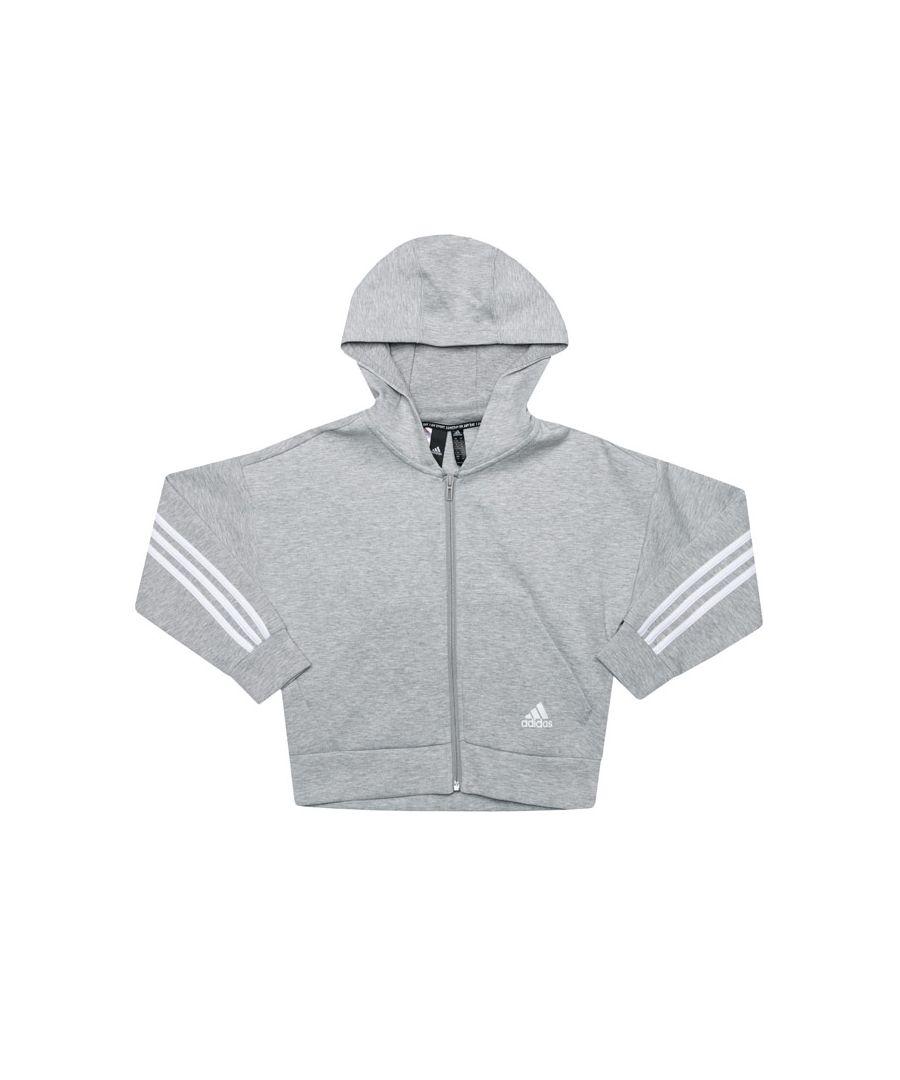 Image for Girl's adidas Junior Must Haves Zip Hoody in Grey