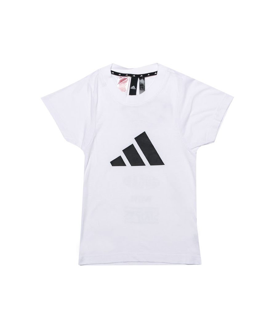Image for Girl's adidas Junior ID T-Shirt in White Black