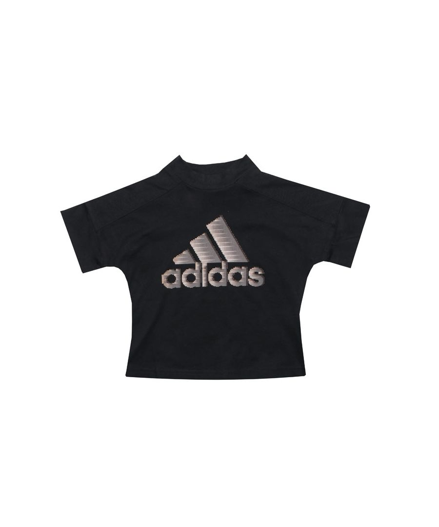 Image for Girl's adidas Junior ID Glam T-Shirt in Black