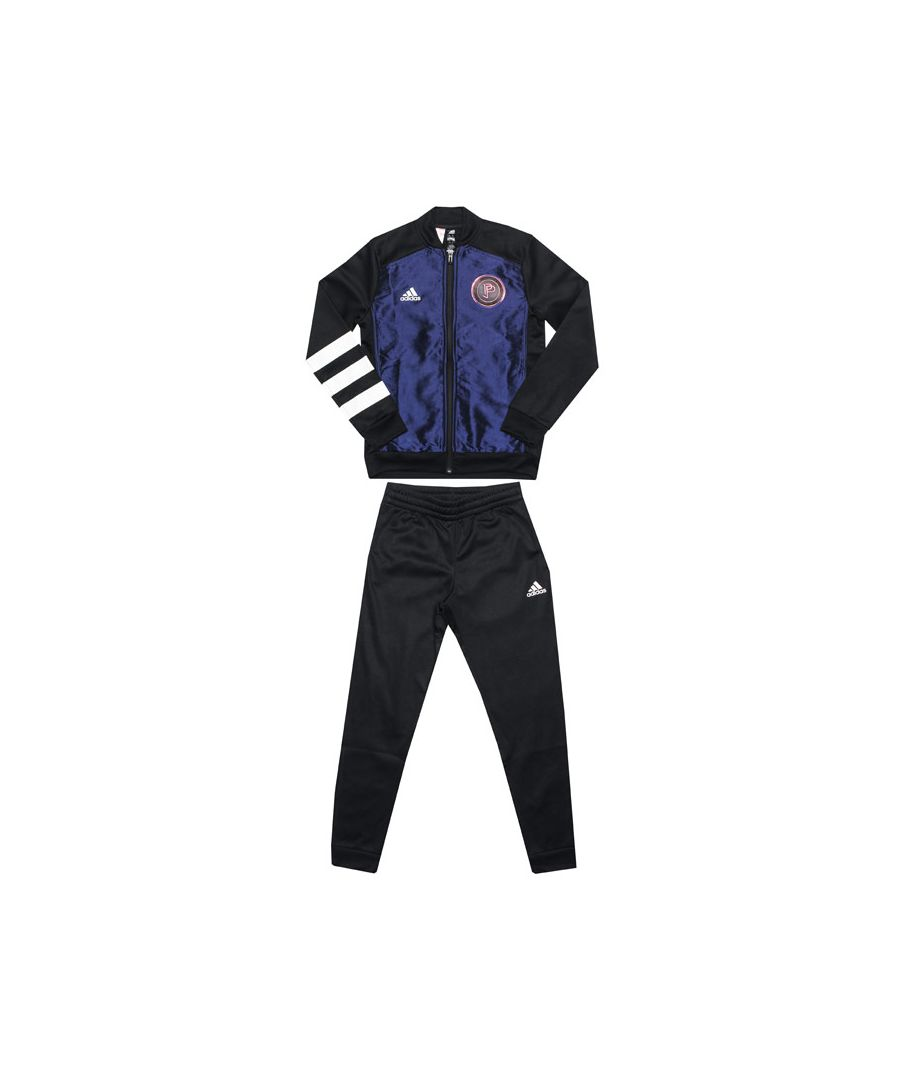 Image for Boy's adidas Junior Paul Pogba Tracksuit in Black