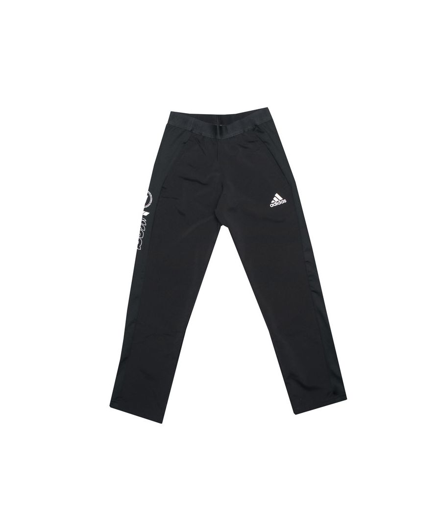 Image for Boy's adidas Infant Slim Woven Pants in Black-White