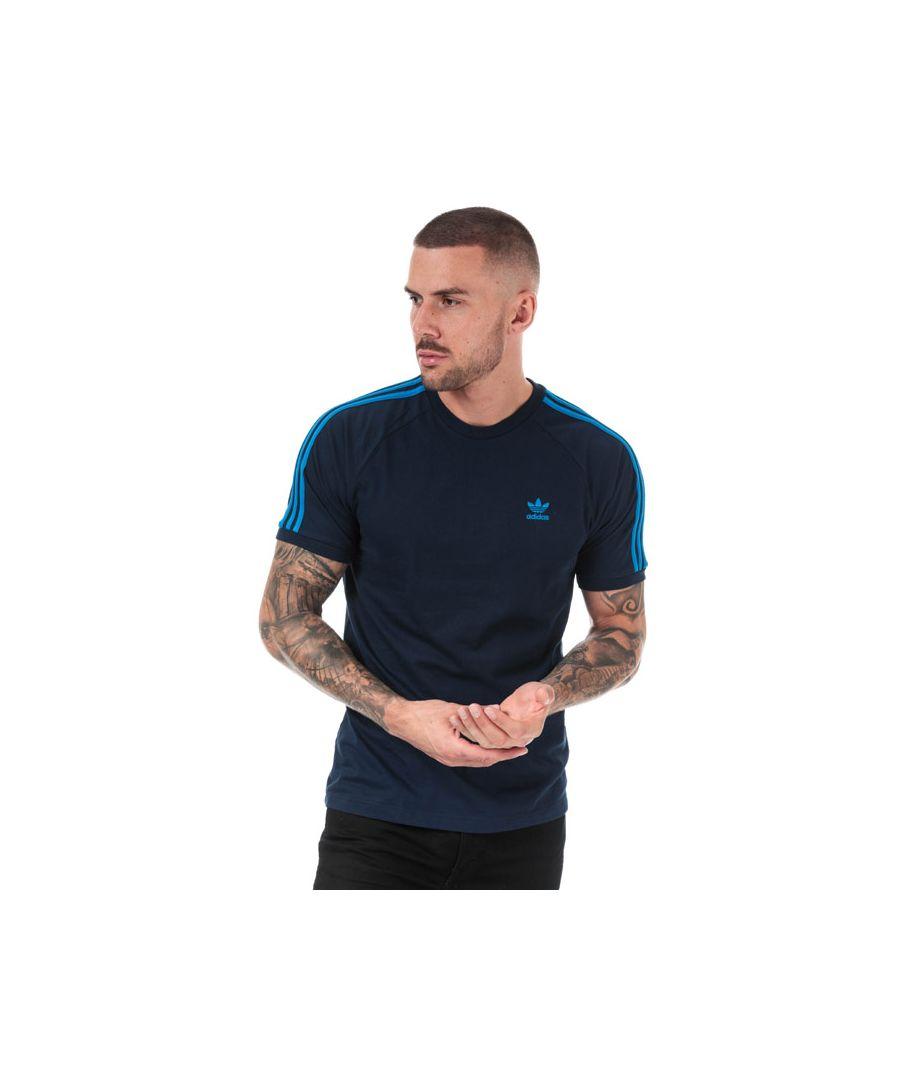 Image for Men's adidas Originals 3-Stripes T-Shirt in Blue