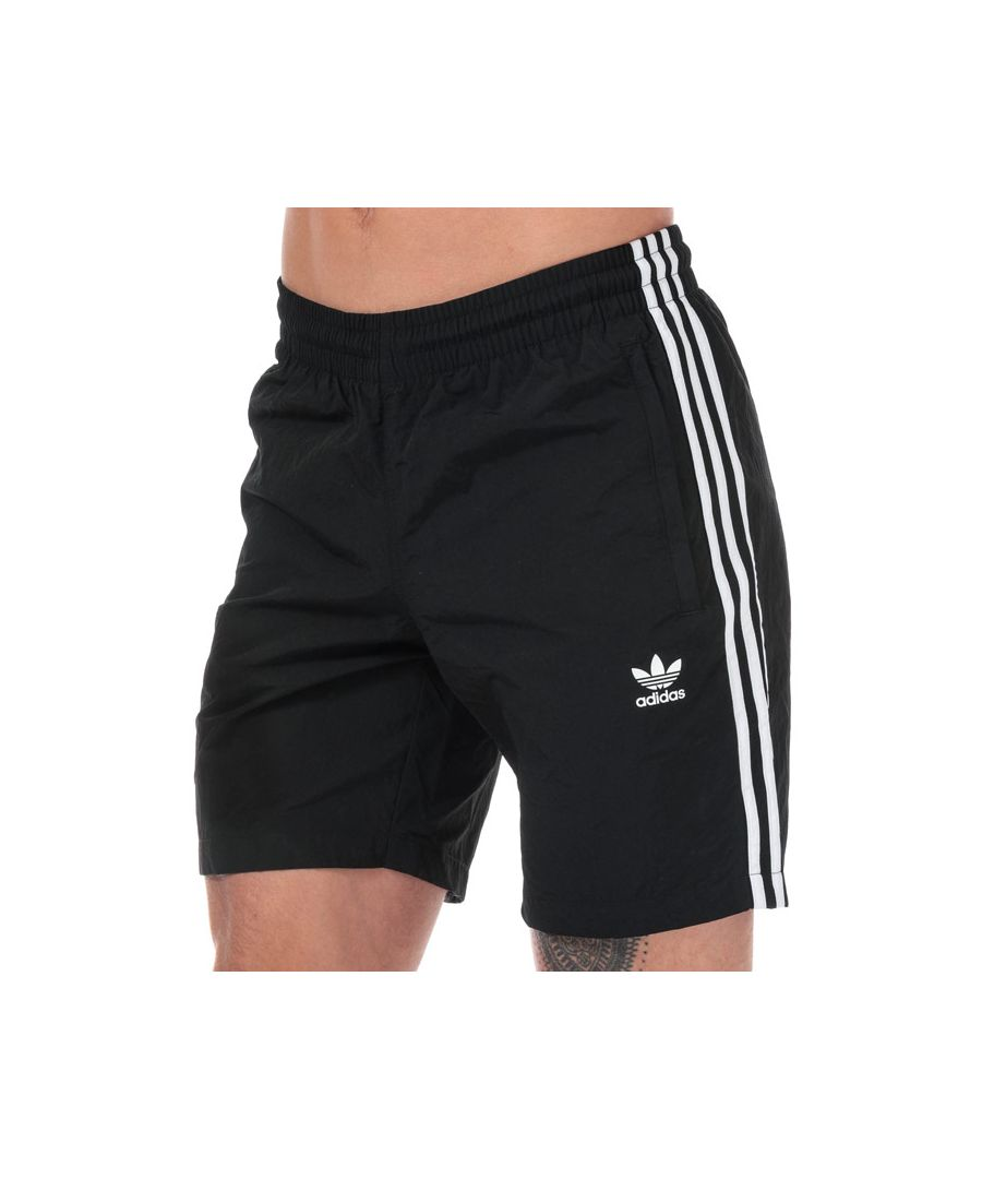 Image for Men's adidas Originals 3-Stripes Swim Shorts in Black
