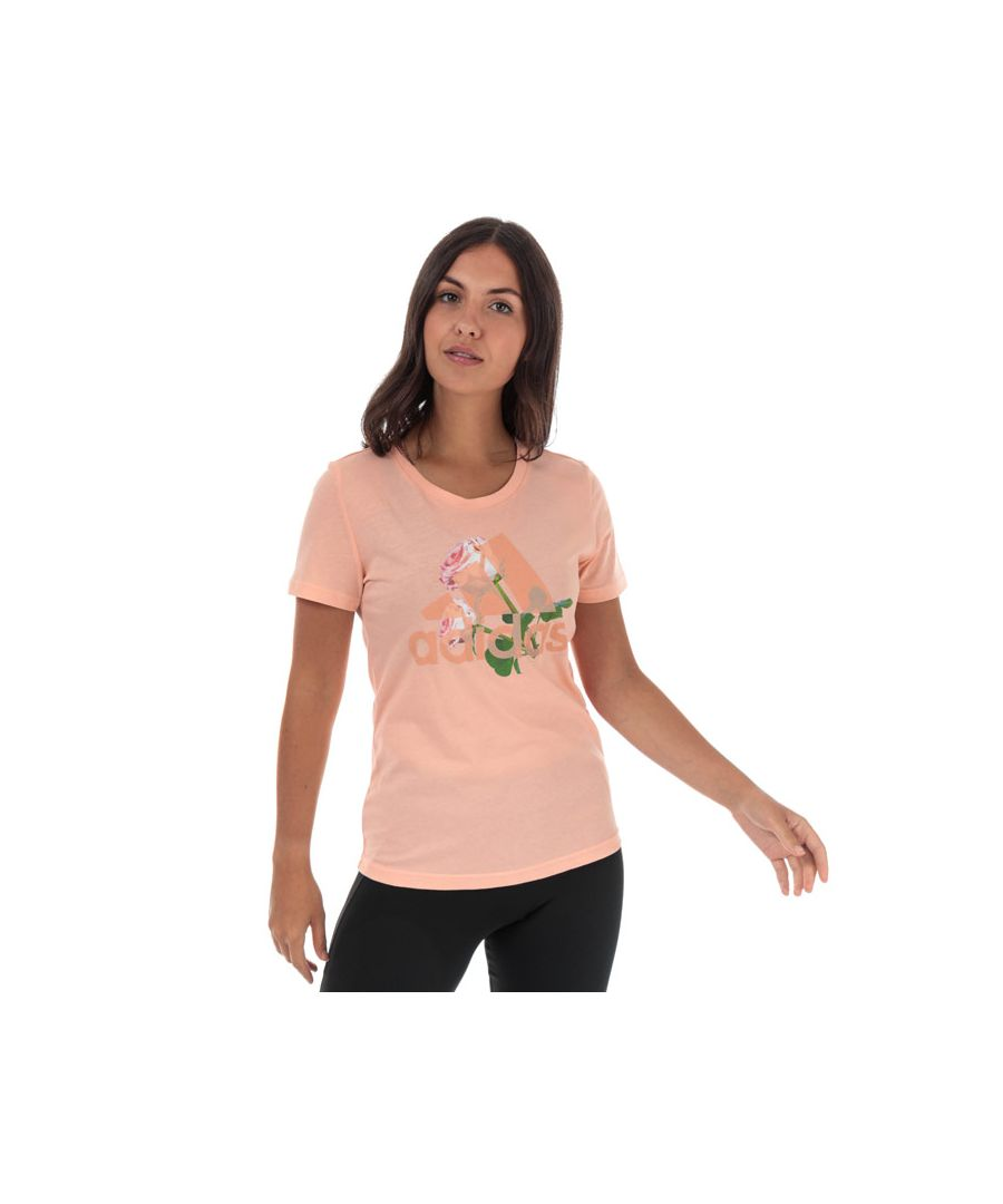 Image for Women's adidas Must Haves Flower T-Shirt in Pink