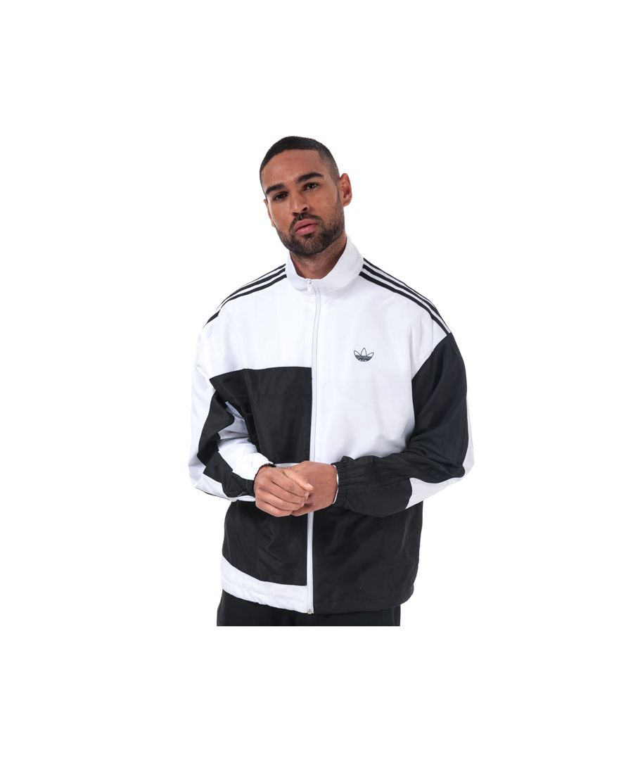 Image for Men's adidas Originals Asymm Track Top in Black-White
