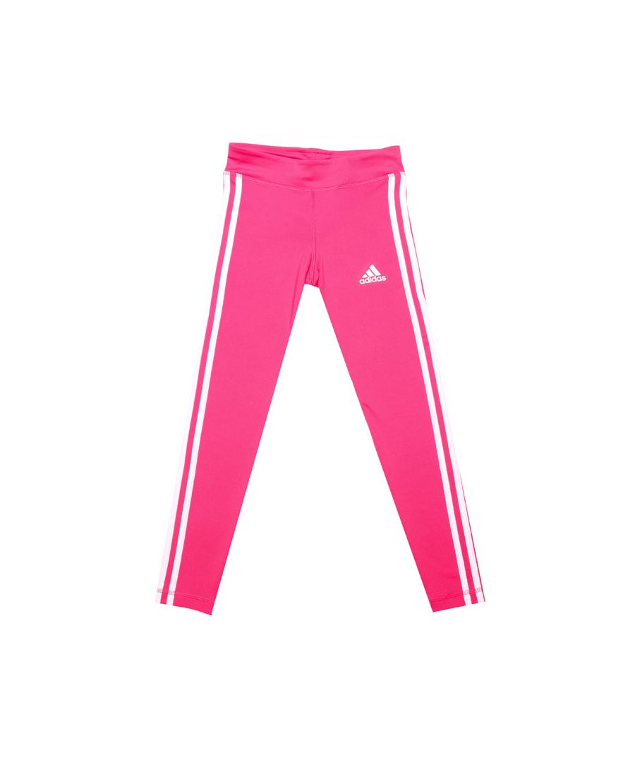 Image for Girl's adidas Junior Equpment 3 Stripe Legging in Pink
