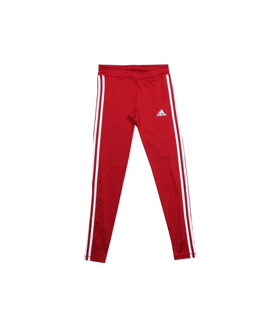 Image for Girl's adidas Junior Equpment 3 Stripe Legging in Red
