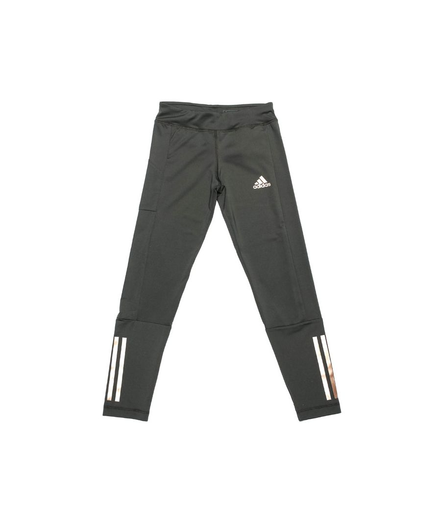 Image for Girl's adidas Junior Holiday Tights in olive