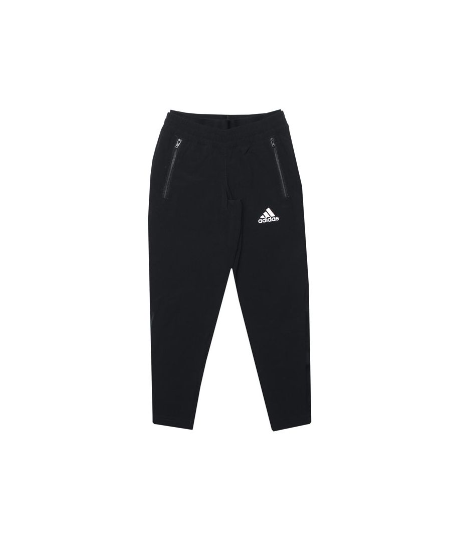 Image for Girl's adidas Junior Slim Woven Pants in Black-White