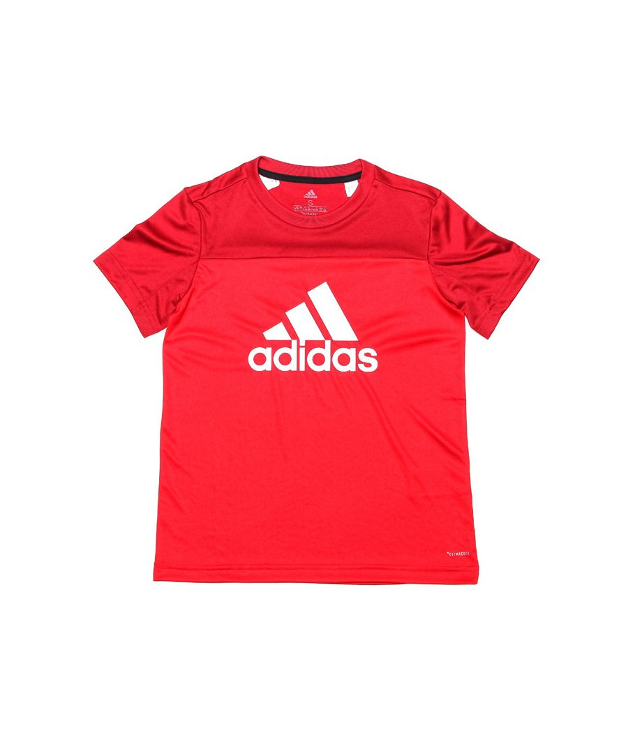 Image for Girl's adidas Infant Equipment Logo T-Shirt in Red