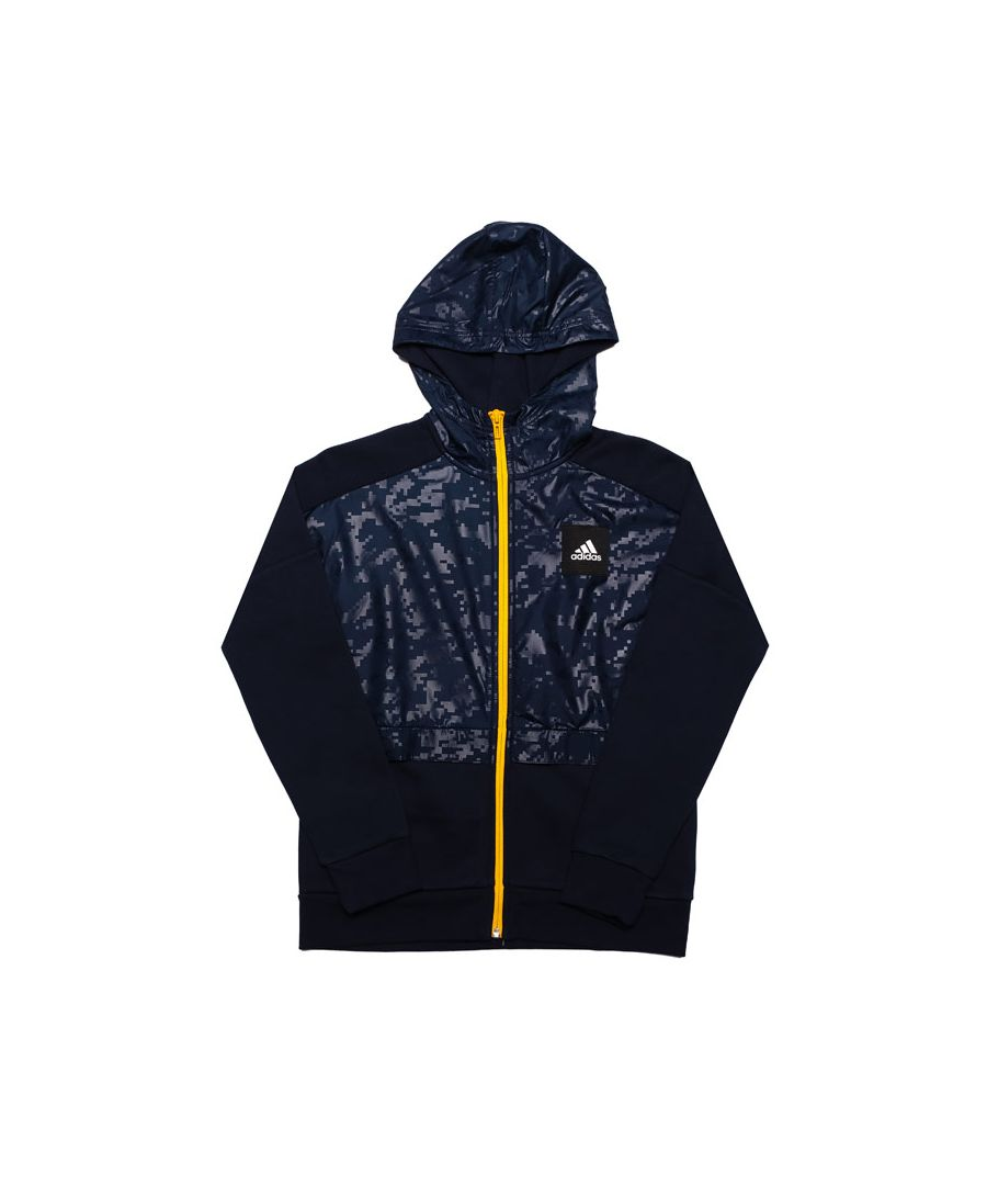 Image for Boy's adidas Junior Sport ID Cover-Up Zip Hoody in Navy