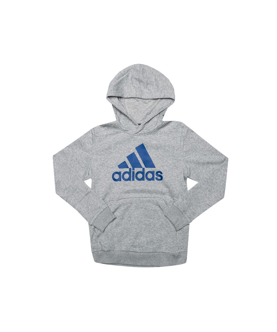 Image for Boy's adidas Junior Must Haves BOS Hoody in Grey Marl