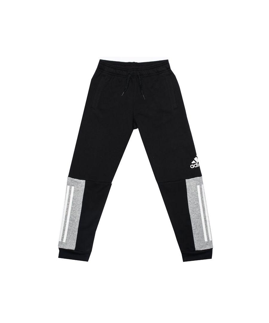 Image for Boy's adidas Junior Sport ID Jog Pants in Black Grey