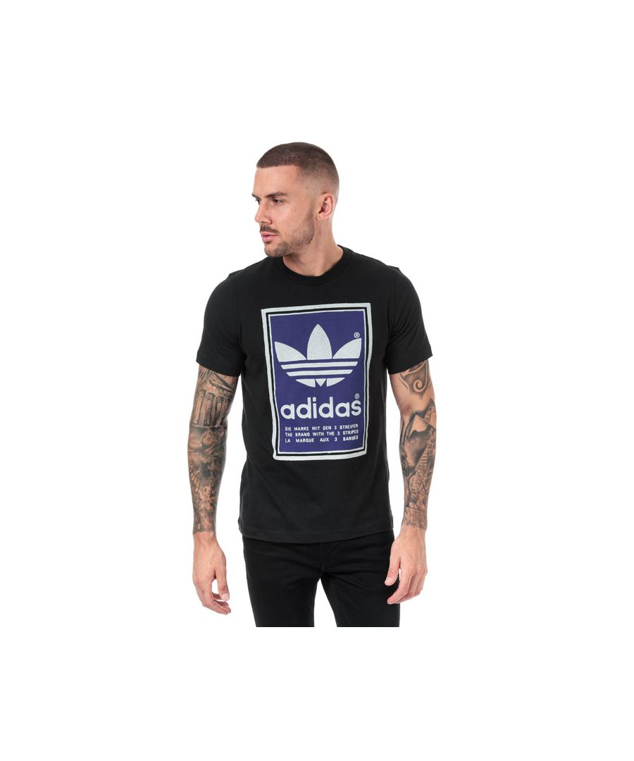 Image for Men's adidas Originals Filled Label T-Shirt in Black