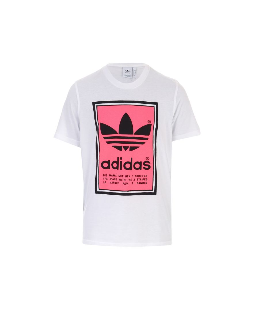 Image for Men's adidas Originals Filled Label T-Shirt in White red