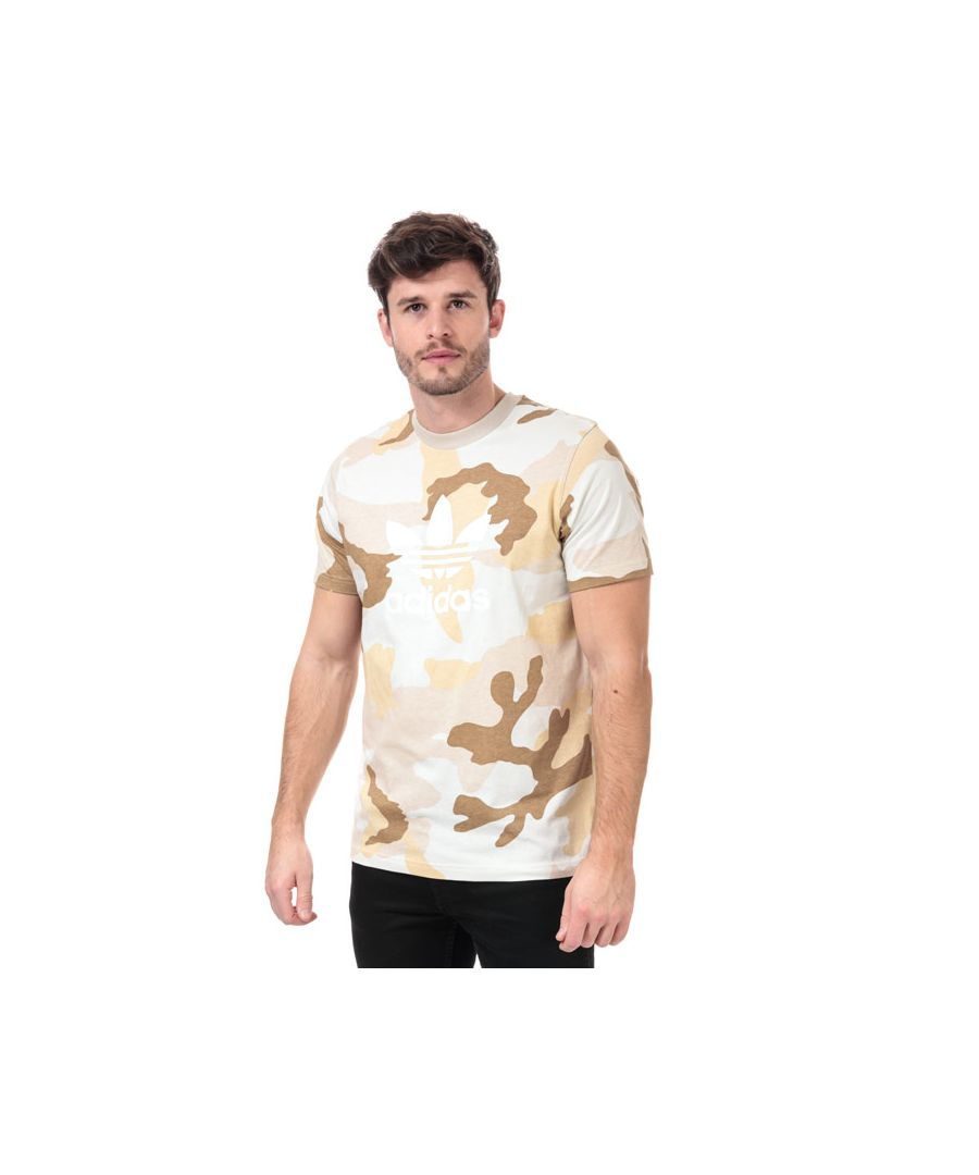 Image for Men's adidas Originals Camouflage Trefoil T-Shirt in Brown