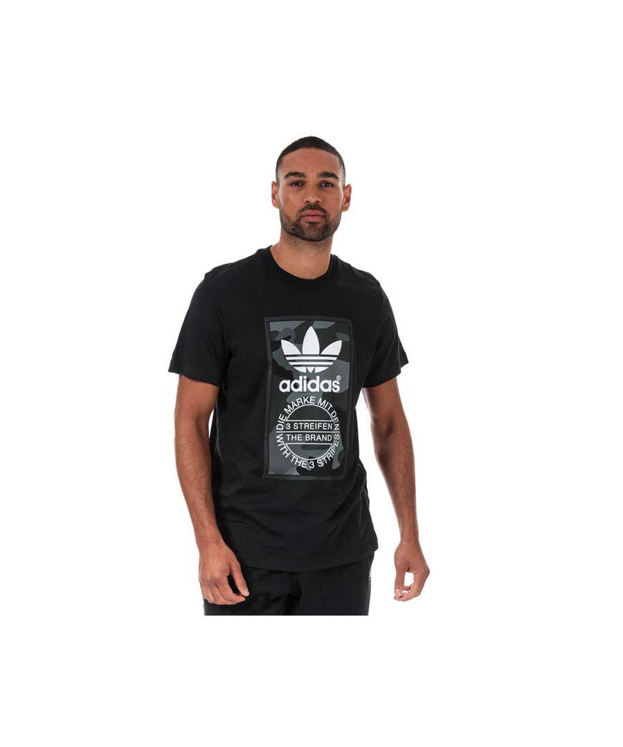 Image for Men's adidas Originals Camo T-Shirt in Black