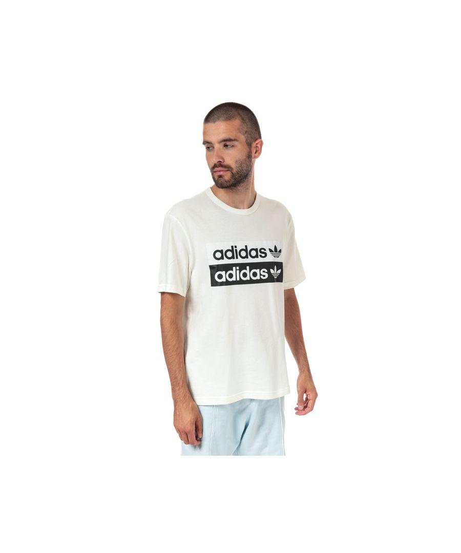 Image for Men's adidas Originals R.Y.V Logo T-Shirt in White