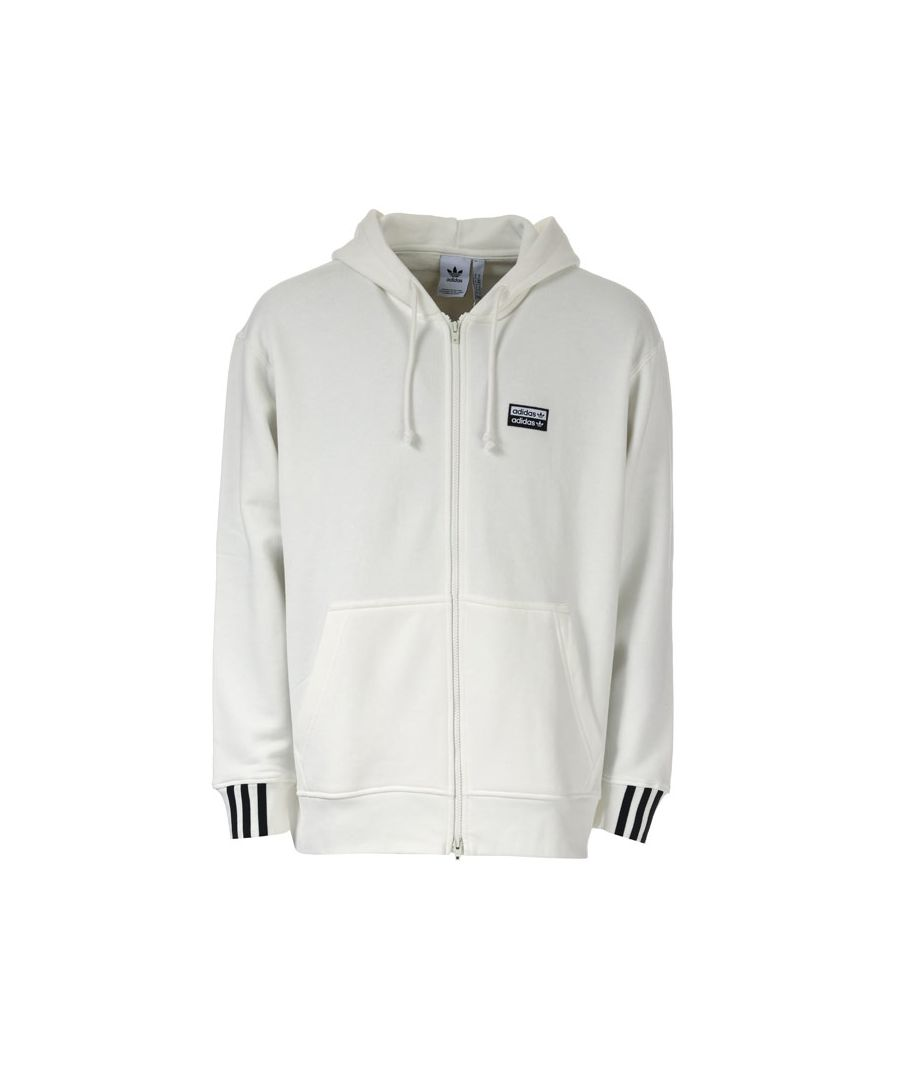 Image for Men's adidas Originals R.Y.V. Full Zip Hoody in White