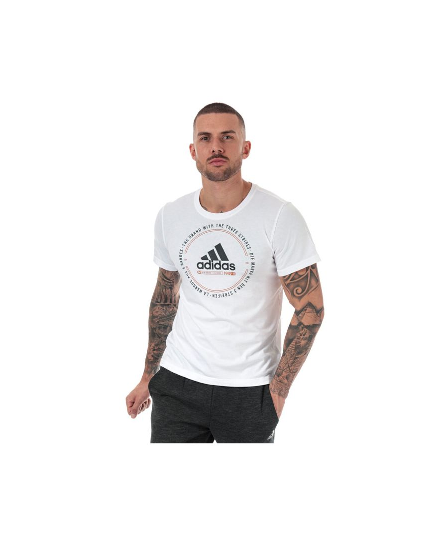 Image for Men's adidas Must Haves Emblem T-Shirt in White
