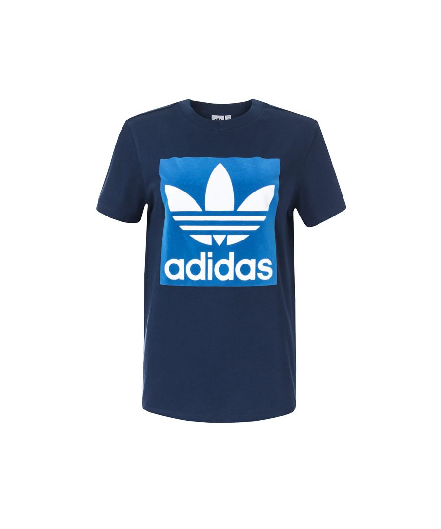 Image for Women's adidas Originals Boyfriend T-Shirt in Navy
