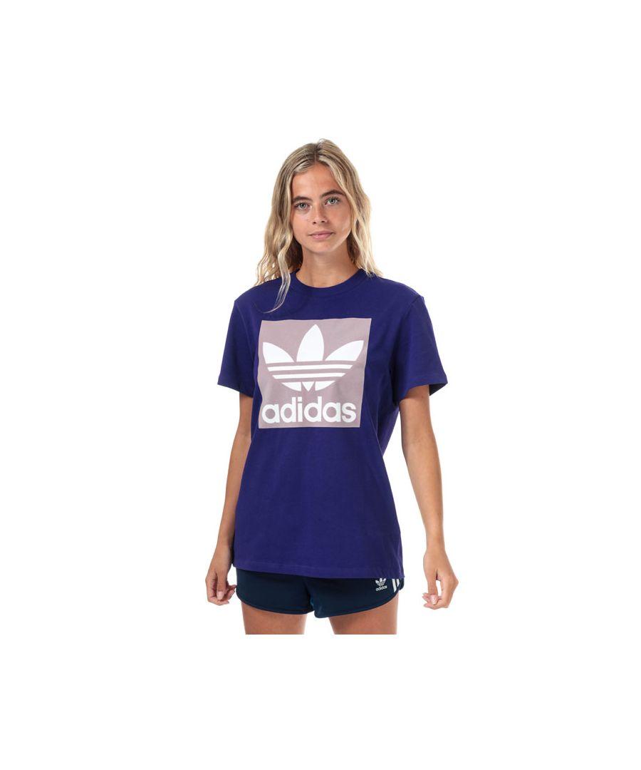 Image for Women's adidas Originals Boyfriend T-Shirt in Purple