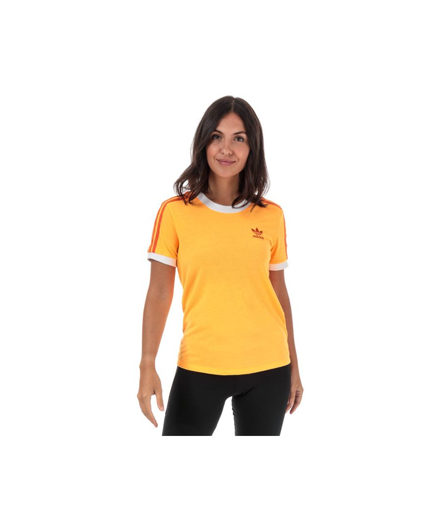 Image for Women's adidas Originals 3-Stripes T-Shirt in Orange