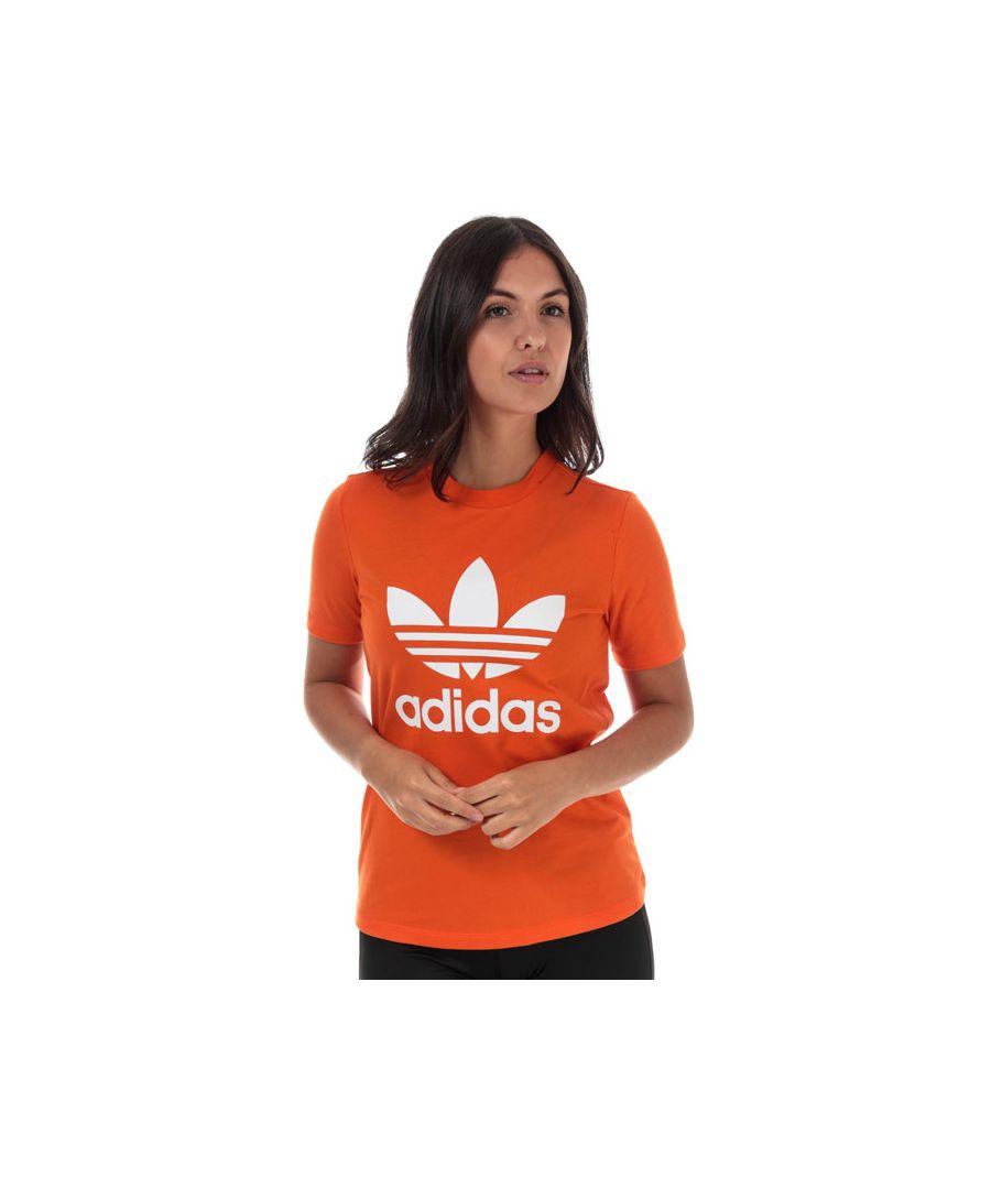 Image for Women's adidas Originals Trefoil T-Shirt in Orange