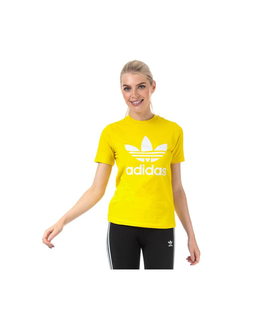 Image for Women's adidas Originals Trefoil T-Shirt in Yellow
