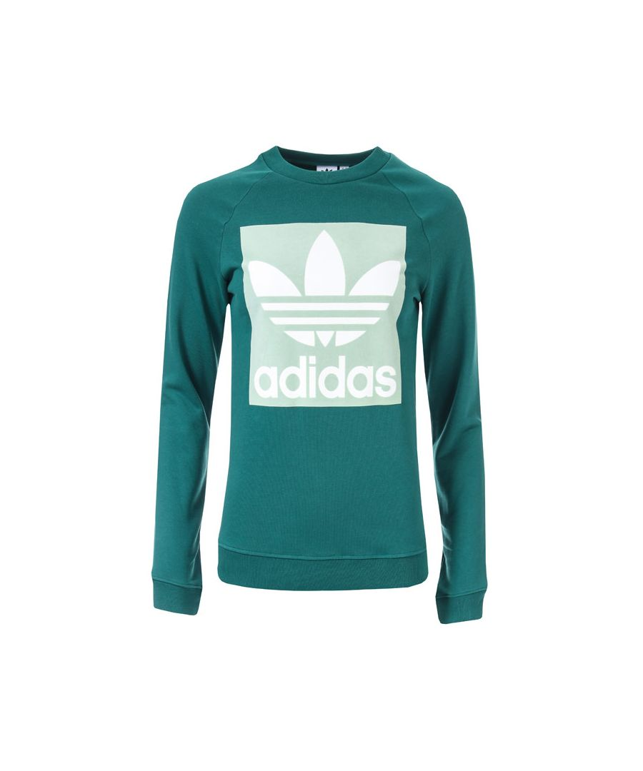 Image for Women's adidas Originals Trefoil Crew Sweatshirt in Green