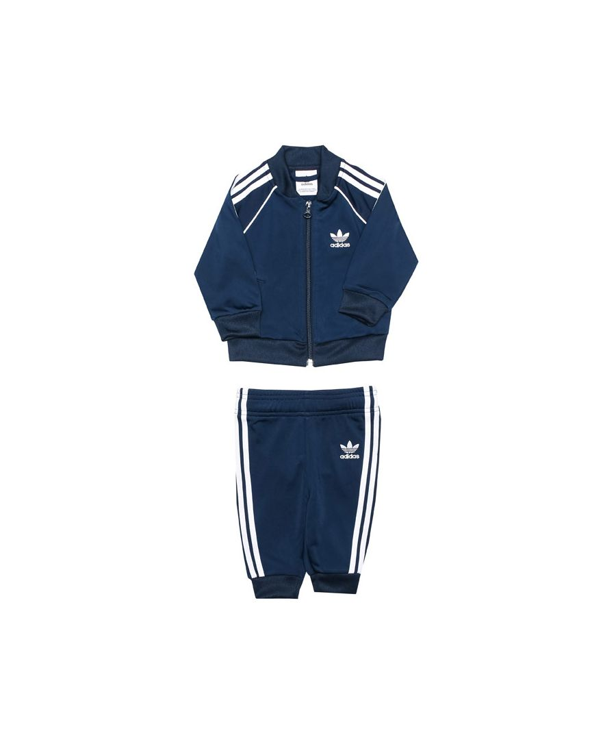 Image for Boy's adidas Originals Baby Superstar Tracksuit in Navy